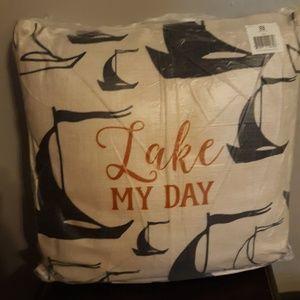Nib burlap style pillows